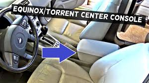 how to remove the center console on chevrolet equinox or pontiac