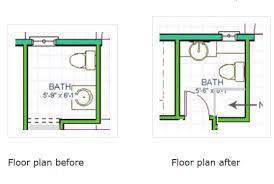 small bath floor plans powder room becomes bath redo hometalk