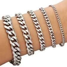 bracelet mens ebay images Customize sz silver tone curb link stainless steel bracelet boy jpg