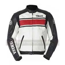 white leather motorcycle jacket yamaha racing jacket motorcycle leather jacket
