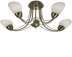 Brass Ceiling Lights 4 And 5 Light Semi Flush Ceiling Lights From Easy Lighting