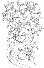peach blossom coloring page and cherry tree coloring page