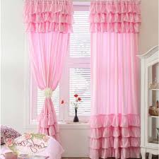 Light Pink Curtains by Pink Ruffled Curtains Home Design Ideas And Pictures