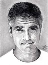 pencil portrait of george clooney by chaseroflight on deviantart