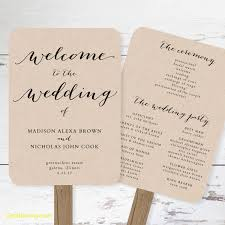 wedding fan templates inspirational free printable wedding program templates best
