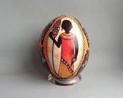 painted ostrich egg ostrich egg etsy