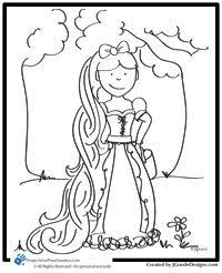 story rapunzel coloring projects preschoolers