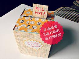 diy creative way to give a cash gift using a kleenex box box