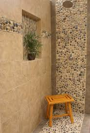 bathroom shower tile design ideas amusing river rock tiles for the bathroom with additional interior
