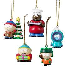 south park 5 pack tree ornaments tv cartman presents