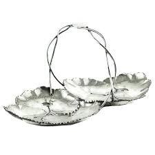 reed and barton sterling silver two part lily pad dish with