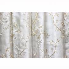 Leaf Design Curtains Royal Leaves Embroidered Sheer Curtain Fabric Drapery Window