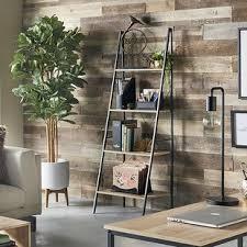 iron off the living room wood bookcase shelves display showcase flower jewelry rack shelf ikea reclaimed wood ladder shelf wayfair