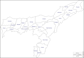 Blank Maps Of Asia by Assam Free Map Free Blank Map Free Outline Map Free Base Map
