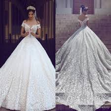 luxury wedding dresses 2017 new vintage lace wedding dresses the shoulder