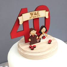 wedding anniversary cakes personalised wedding anniversary cake topper by just toppers