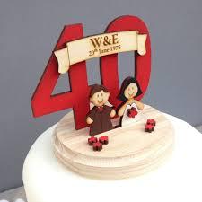 wedding anniversary cakes personalised wedding anniversary cake topper by just toppers