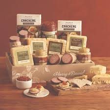 meat and cheese gift baskets meat and cheese gift for him harry david field notes