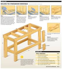 Simple Wood Bench Instructions by Image Of Garage Work Bench Workbench Plans For Garage And