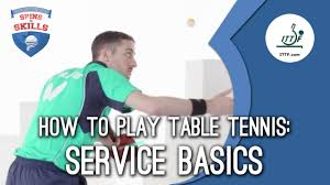 how to play table tennis service basics
