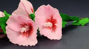 Make Flower With Paper - how to make paper flowers step by step hollyhock mallow flower