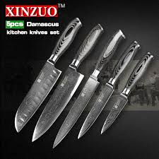 kitchen knives set reviews reviews xinzuo 5 pcs kitchen knife set 73 layers damascus kitchen