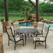 hampton bay belleville 7 piece padded sling outdoor dining set