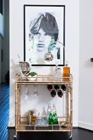 Bamboo Bar Top Rustic Bar Cart Decorating Ideas Home Bar Transitional With Gold