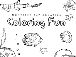 coloring pages monterey bay aquarium