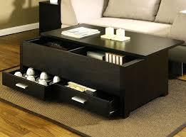 coffee table black coffee table with storage drawers target black