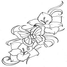 henna muster schablone blume elegant hennatattoo blume vorlage im