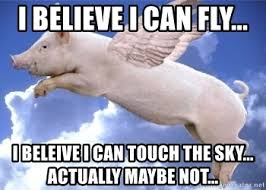 I Believe I Can Fly Meme - i believe i can fly i beleive i can touch the sky actually