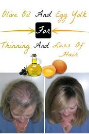 olive and egg yolk for thinning and loss of hair home