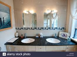 En Suite Bathrooms by Double Sink Twin En Suite Bathroom Washroom Stock Photo Royalty