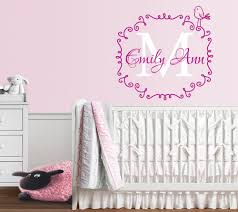 aliexpress com buy personalized name initial decal mural frame aliexpress com buy personalized name initial decal mural frame vinyl baby nursery wall stickers home decor teens bedroom waterproof sticker za266 from