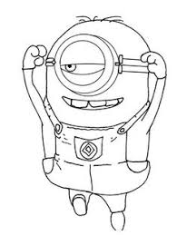 despicable 2 birthday party minion coloring pages