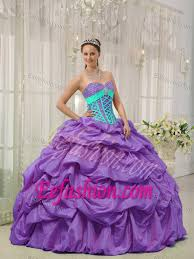 aqua blue quinceanera dresses blue straps decorated front beading ups quince dress in purple