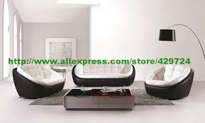 White Leather Sofa Modern Free Shipping Modern Black And White Creative Genuine Leather Sofa