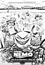 movie nemo disney pixar movies coloring pages for adults