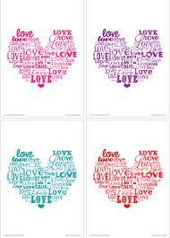 free printable love word art artsy fartsy mama