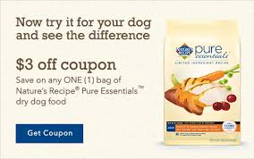 printable nature s recipe dog food coupons pure essentials dog food food