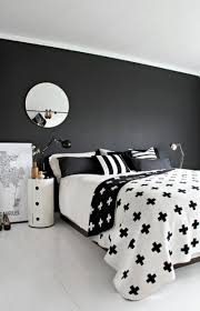 Black And White Bedroom With Color Accents Black And White Room Decor Bedroom Furniture Decorating