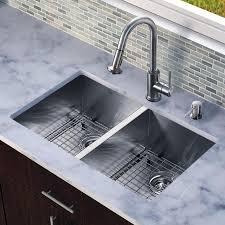 Attractive Double Bowl Undermount Kitchen Sink  Inch Stainless - Double bowl kitchen sink undermount