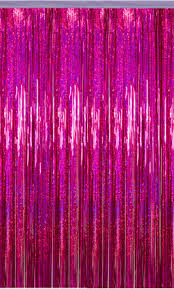 Fuchsia Pink Curtains Decorativenovelty Holographic Curtain