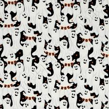 timeless treasures halloween ghosts black and white fabric