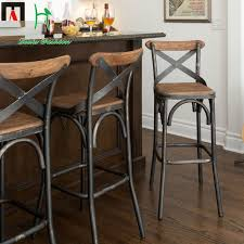 European High Chair by Louis Fashion European Style Bar Chairs Iron Wood Bar Chair Simple