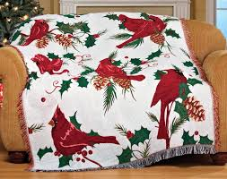 cardinal home decor christmas cardinal tapestry throw blankets christmas wikii