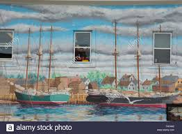 canada new brunswick charlotte county st andrews by the sea canada new brunswick charlotte county st andrews by the sea downtown hand painted wall mural of the st andrews harbor