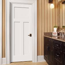 home depot prehung interior door jeld wen 32 in x 80 in craftsman primed left smooth solid