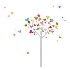 wall decals wall stickers stencils more lowe s canada mia117 mia co heart tree wall decals